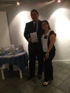 Juan A. Siegenthaler y Sra. en la presentación del libro